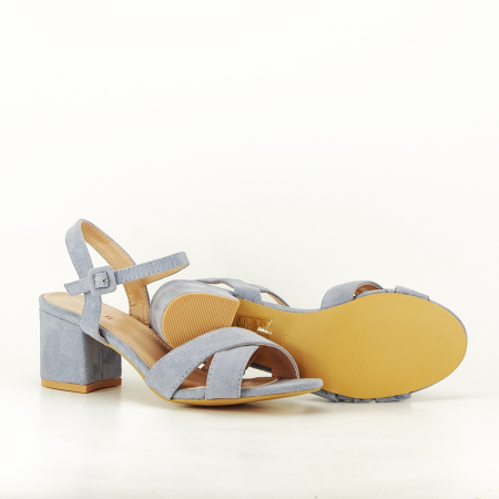 Sandale albastre cu toc mic Natalia [4]