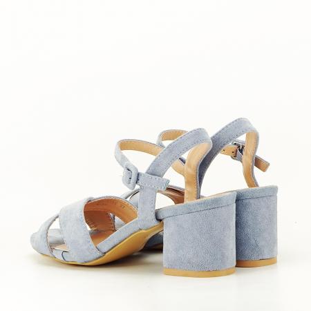 Sandale albastre cu toc mic Natalia [6]