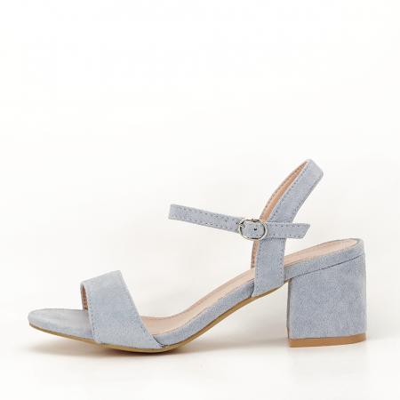 Sandale blue cu toc mic Vanesa [0]