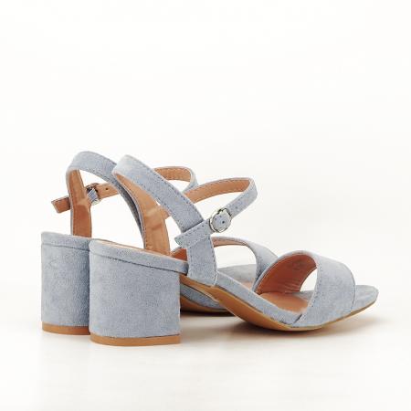 Sandale blue cu toc mic Vanesa [2]
