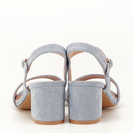 Sandale blue cu toc mic Vanesa [6]