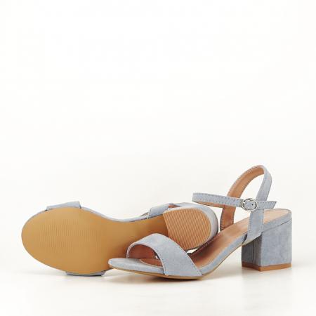 Sandale blue cu toc mic Vanesa [7]