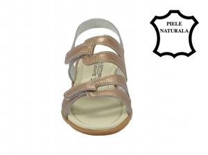 Sandale champagne din piele naturala Iasmina4
