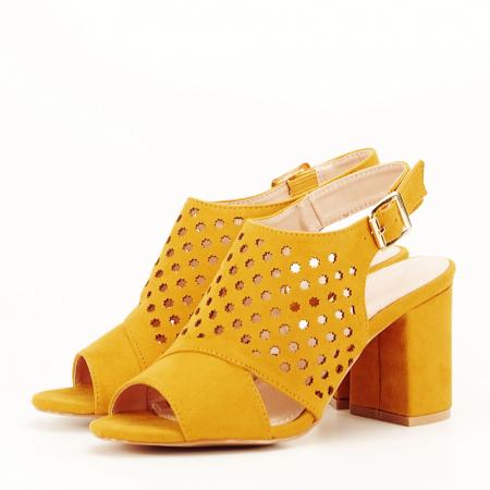 Sandale perforate galben mustar Penelope [0]