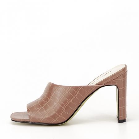 Sandale cu toc roz plamaniu Eva0
