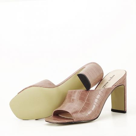 Sandale cu toc roz plamaniu Eva5