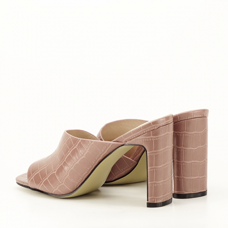 Sandale cu toc roz plamaniu Eva7