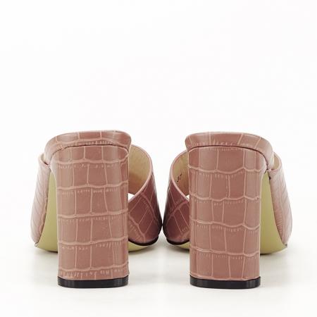 Sandale cu toc roz plamaniu Eva4