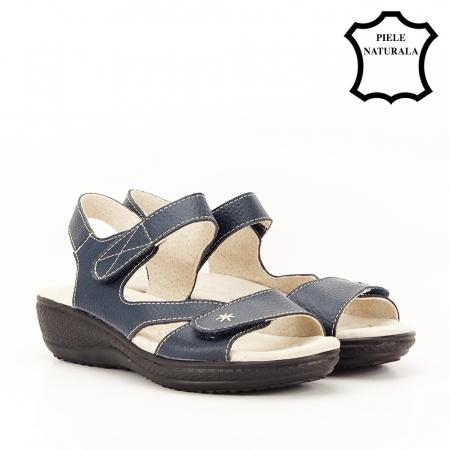 Sandale bleumarin din piele naturala Sara [4]
