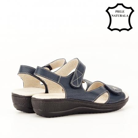 Sandale bleumarin din piele naturala Sara [3]