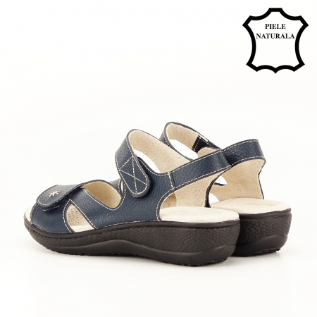 Sandale bleumarin din piele naturala Sara [7]