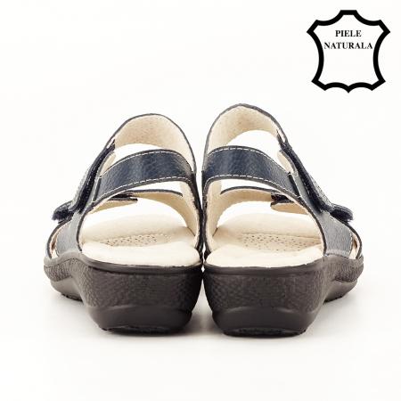 Sandale bleumarin din piele naturala Sara [6]