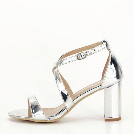 Sandale elegante argintii Bella [6]