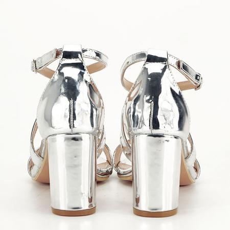 Sandale elegante argintii Bella [5]