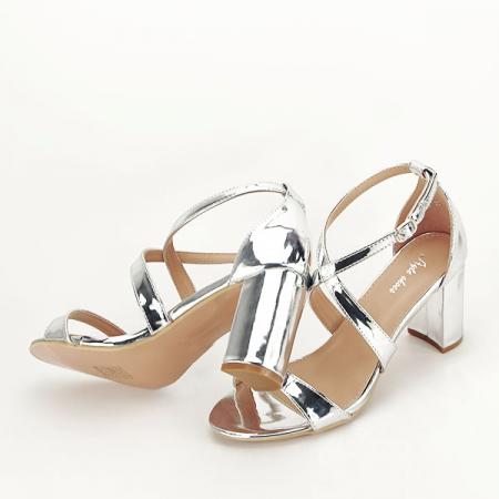 Sandale elegante argintii Bella [7]