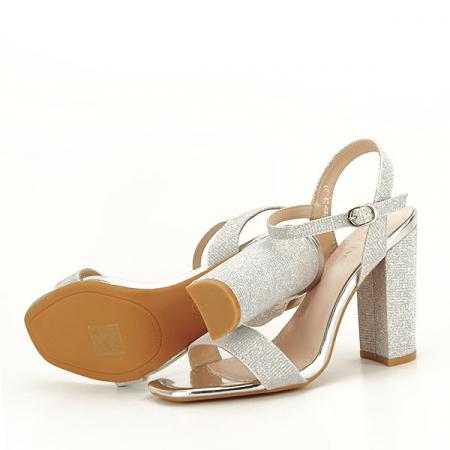 Sandale elegante argintii Estera [7]