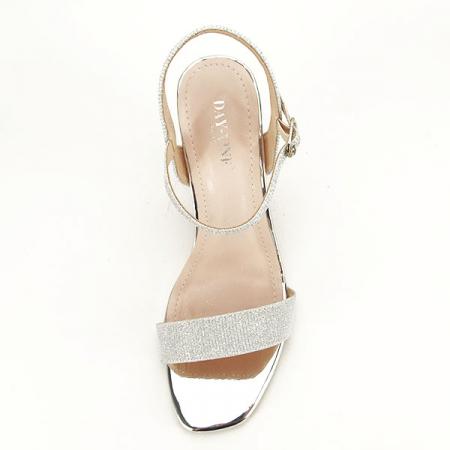 Sandale elegante argintii Estera [6]