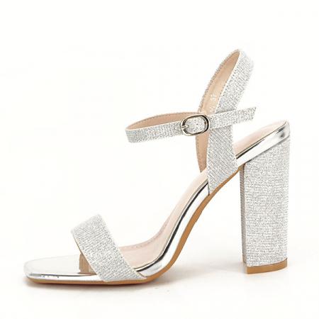 Sandale elegante argintii Estera [0]
