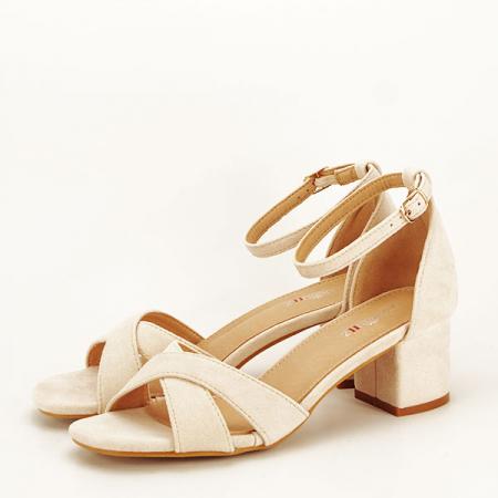 Sandale elegante bej Lidia [1]
