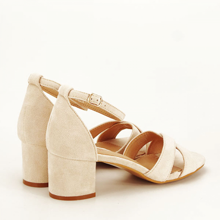 Sandale elegante bej Lidia [4]