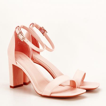 Sandale elegante roz piersica Judy [2]