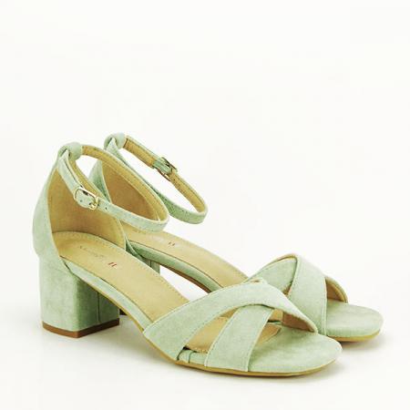 Sandale elegante verzi Lidia [2]