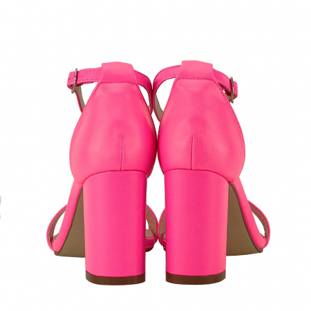 Sandale roz neon cu toc gros Ingrid4
