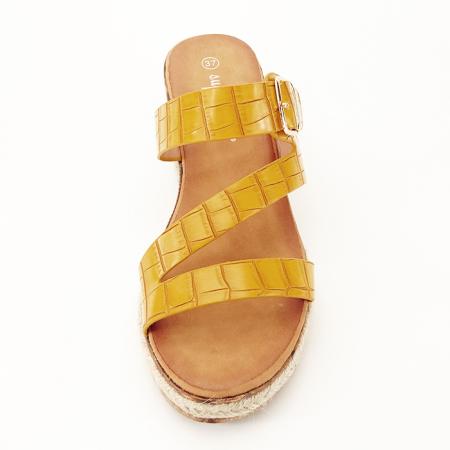Sandale galbene cu platforma Florida3