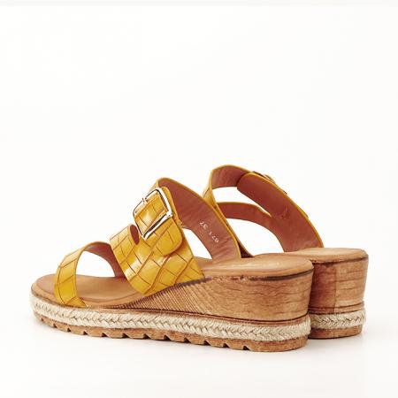 Sandale galbene cu platforma Florida6