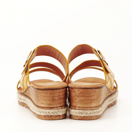 Sandale galbene cu platforma Florida4