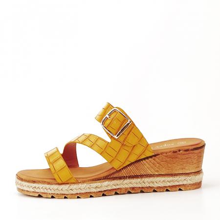 Sandale galbene cu platforma Florida1