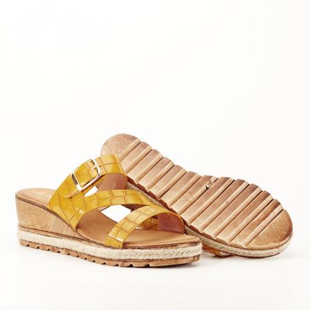 Sandale galbene cu platforma Florida5