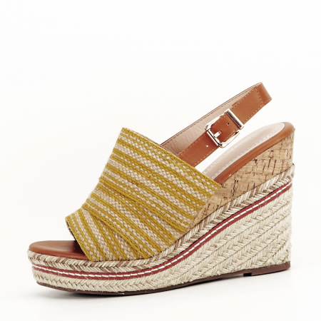 Sandale galbene cu platforma Lucia0