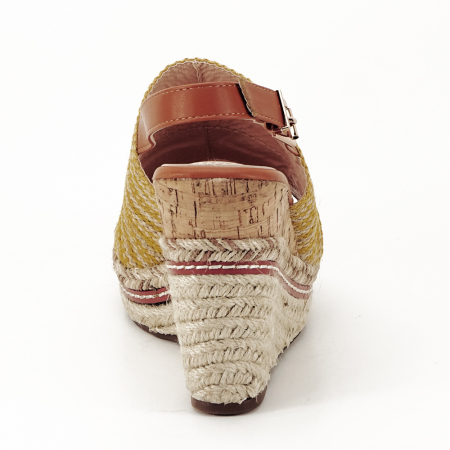Sandale galbene cu platforma Lucia3