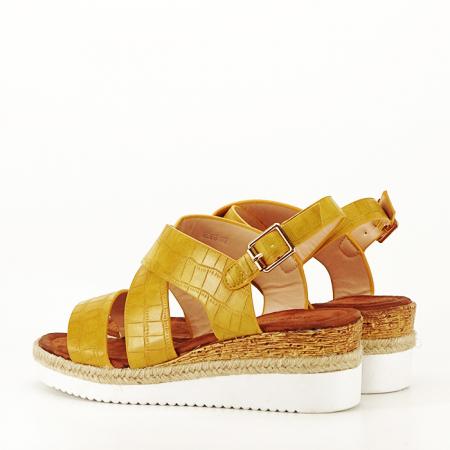 Sandale galbene cu platforma Odessa [7]