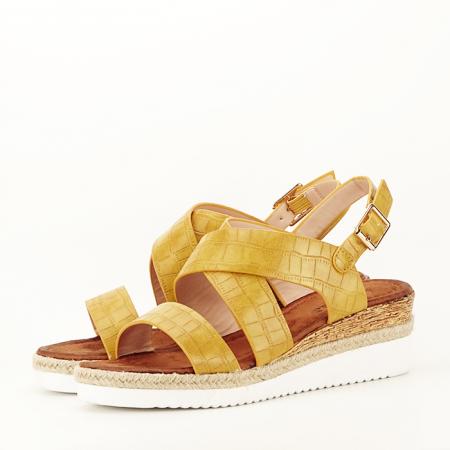 Sandale galbene cu platforma Odessa1