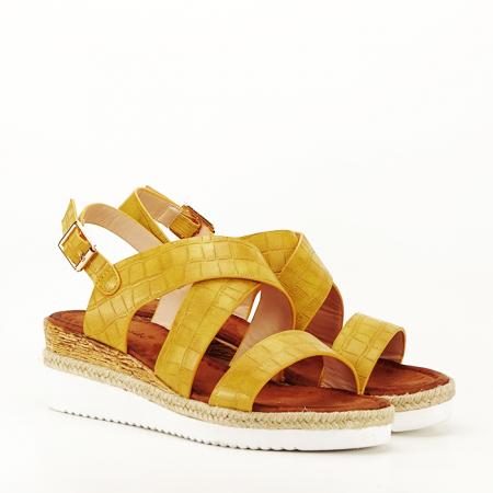 Sandale galbene cu platforma Odessa6