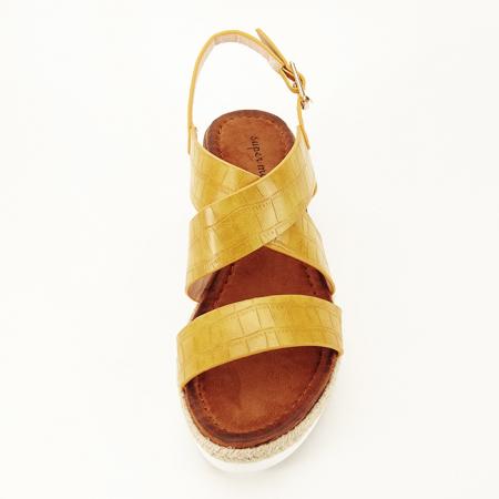 Sandale galbene cu platforma Odessa2