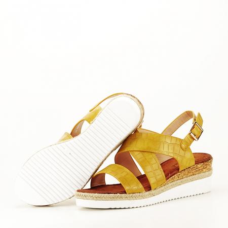 Sandale galbene cu platforma Odessa5