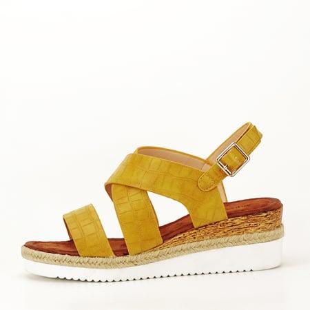 Sandale galbene cu platforma Odessa0