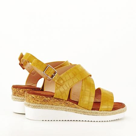 Sandale galbene cu platforma Odessa3