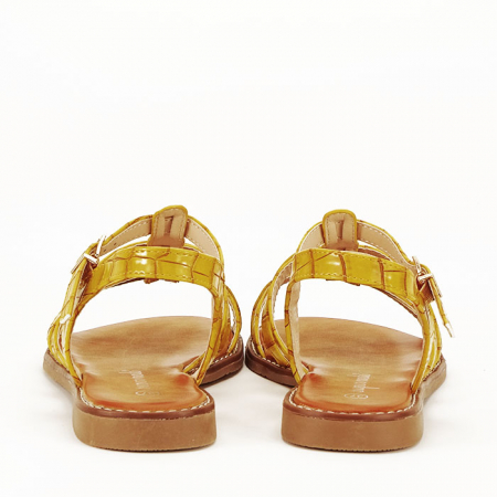 Sandale galbene cu talpa joasa Jeni4