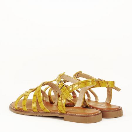 Sandale galbene cu talpa joasa Jeni7