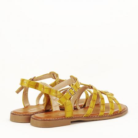 Sandale galbene cu talpa joasa Jeni3