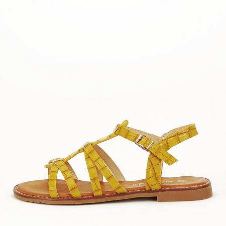 Sandale galbene cu talpa joasa Jeni1