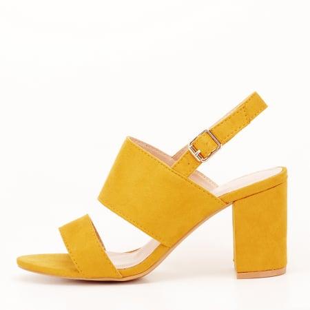 Sandale galbene cu toc comod Paloma [0]
