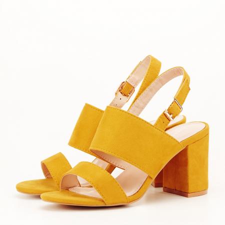 Sandale galbene cu toc comod Paloma [1]