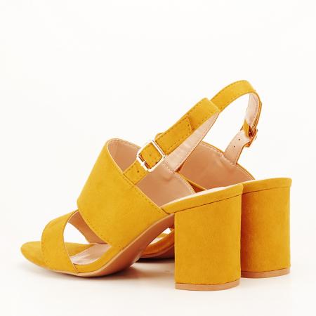 Sandale galbene cu toc comod Paloma [5]