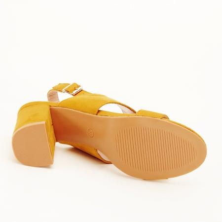 Sandale galbene cu toc comod Paloma [6]