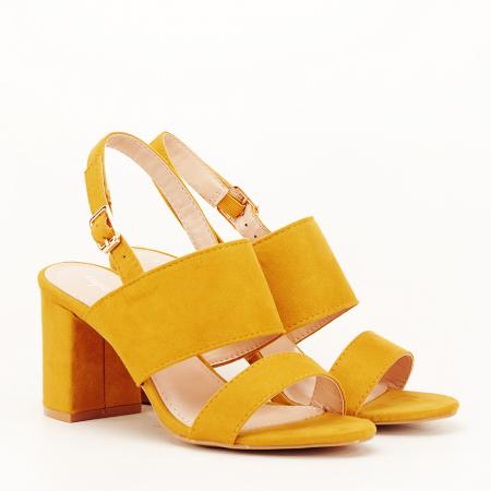 Sandale galbene cu toc comod Paloma [7]